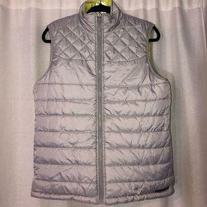 DKNY Reversible Neon Yellow/Silver Vest